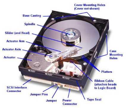 Pevný disk - zde se uchovávají vaše data