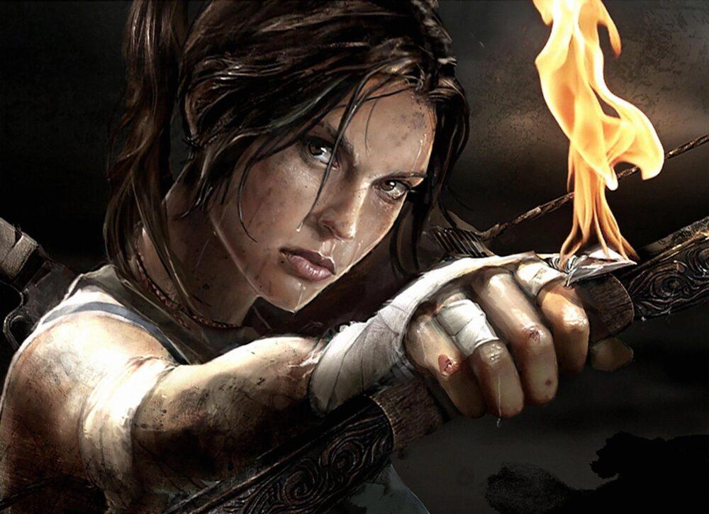 Zápalné šípy dostane až pozdějí ve hře Tom Raider