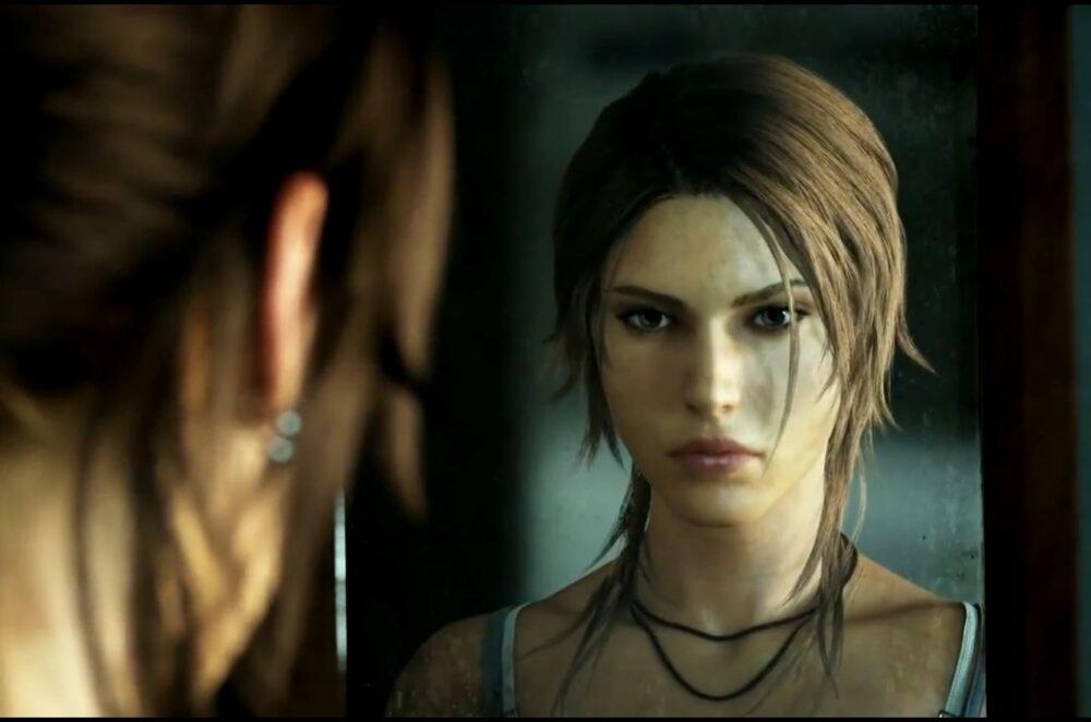 Lara se pohlíží v zdrcadle na lodi, nemá tušíní, co ji čeká