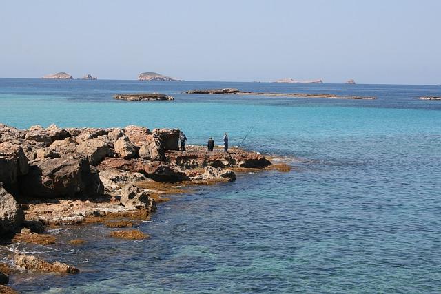 Ibiza moře a pláž
