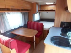 Interiér karavanu je je fakt super