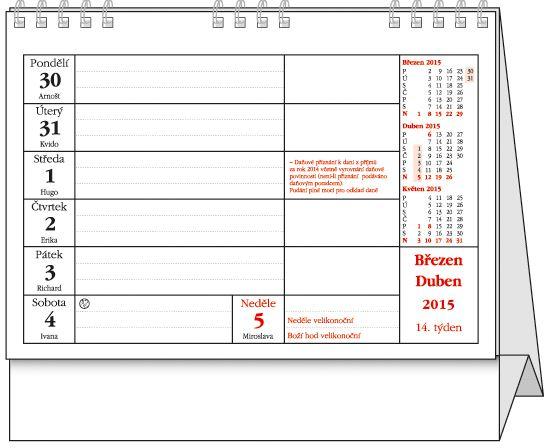 Pracovní kalendář - www.balousektisk.cz